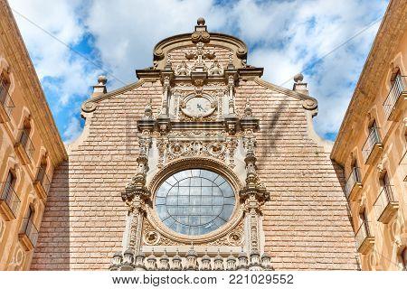 Exterior Of Montserrat Benedictine Monastery