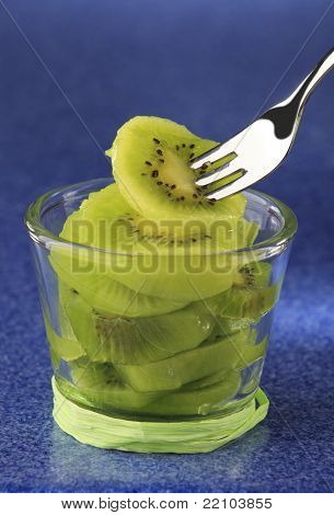 Fresh Kiwi Fruit Closeup