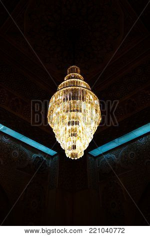 Kuwait Grand Mosque interior 07 January 2015 Kuwait-city, Kuwait