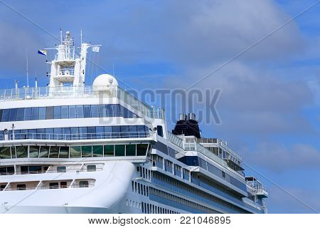A View of Upper Decks of Luxury Cruise Ship