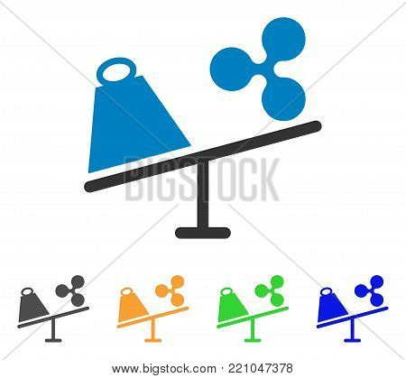 Ripple Trade Swing icon. Vector illustration style is a flat iconic ripple trade swing symbol with grey, yellow, green, blue color versions. Designed for web and software interfaces.