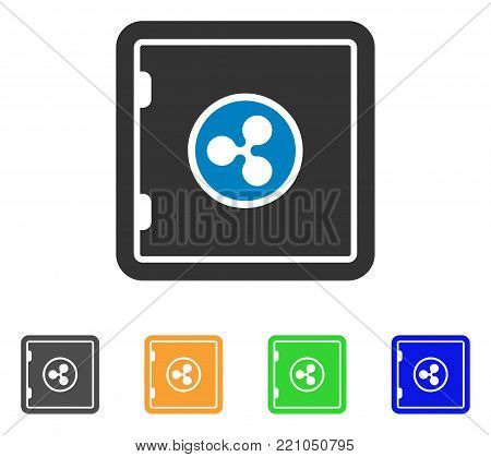 Ripple Safe icon. Vector illustration style is a flat iconic ripple safe symbol with gray, yellow, green, blue color variants. Designed for web and software interfaces.