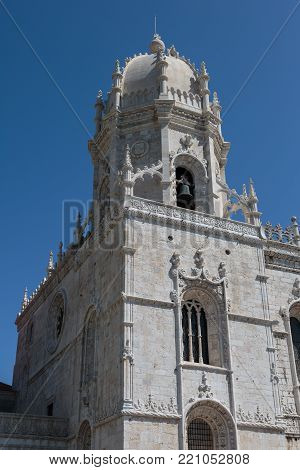 Detail of Jeronimos Monastery in Belem, UNESCO World Heritage Site, Lisbon - Portugal