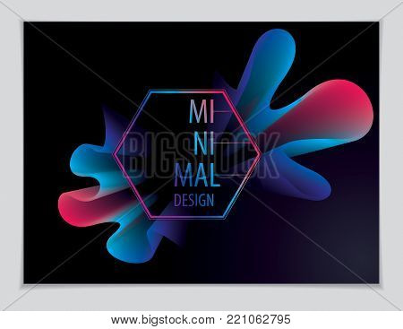 Vector of modern abstract shape, 3d flower shape gradient. 3d flower shape, vector abstract art. Perfect for gift card, cover, poster or brochure. Bright color wave dimensional object.