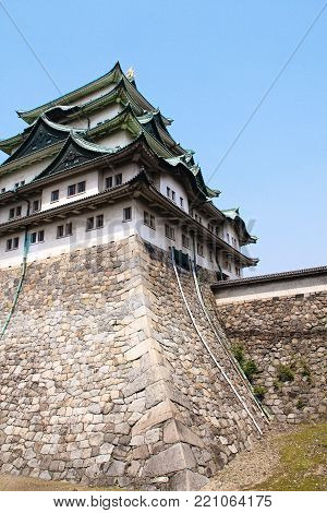 Nagoya Castle is a Japanese castle in Nagoya, Aichi Prefecture, Japan. Nagoya Castle was built in 1612 and destroyed by US air raids in World War II. The castle was reconstructed in 1959. poster