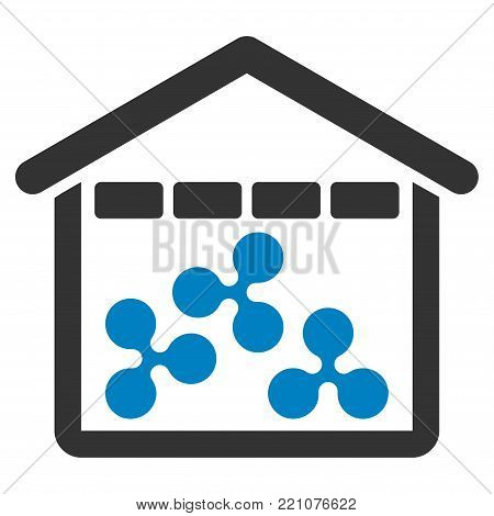 Ripple Depository flat vector pictograph. An isolated icon on a white background.