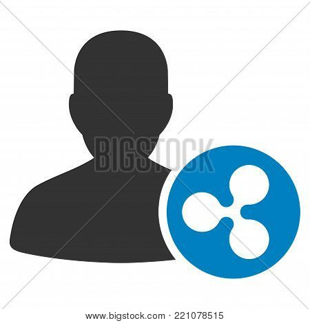 Ripple Person Loan flat vector pictograph. An isolated icon on a white background.