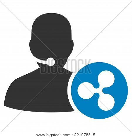 Ripple Receptionist flat vector pictogram. An isolated icon on a white background.
