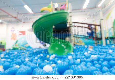 Indoor children playground blur for abstract background