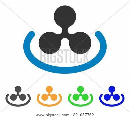 Ripple Area icon. Vector illustration style is a flat iconic ripple area symbol with gray, yellow, green, blue color versions. Designed for web and software interfaces.