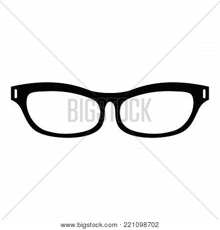 Care eyeglasses icon. Simple illustration of care eyeglasses vector icon for web