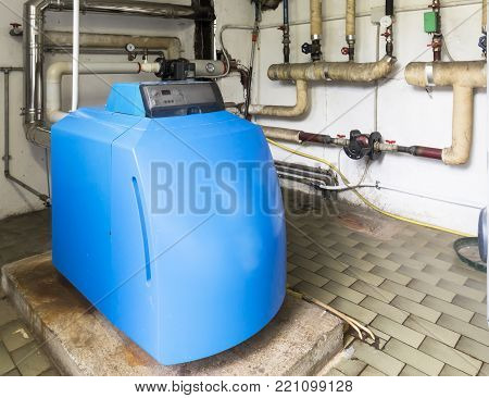 boiler condensing gas in the boiler room