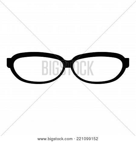 Astigmatic spectacles icon. Simple illustration of astigmatic spectacles vector icon for web