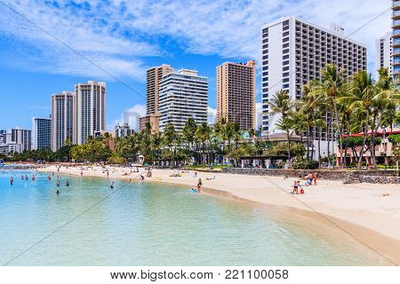 Honolulu, Hawaii. Waikiki Beach in Honolulu, Hawaii.