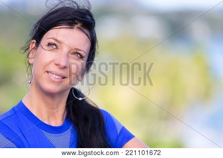 Young Eastern European Woman Looking Up High
