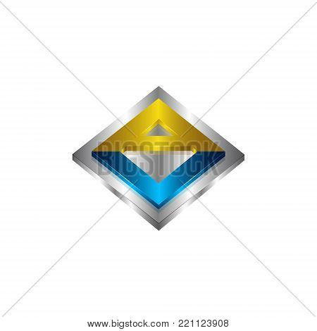 3d square av letter vector photo free trial bigstock