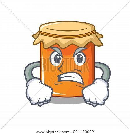 Angry jam mascot cartoon style vector illustration
