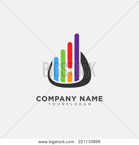Abstract business company logo. Corporate identity design element. Technology, market, bank logotype idea. growth, progress integrate and success concept. Vector interaction icon
