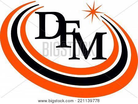 Modern Logo Solution Letter D F M Design Template Vector