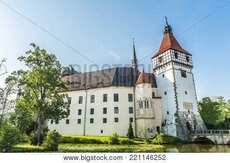 Renaissance castle in Blatna town, Czech Republic