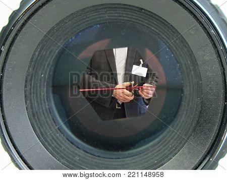 Retro lens close up