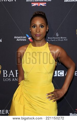 LOS ANGELES - JAN 6:  Issa Rae at the 2018 BAFTA Tea Party Arrivals at the Four Seasons Hotel Los Angeles on January 6, 2018 in Beverly Hills, CA