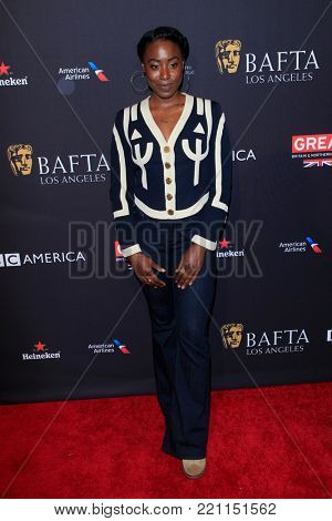 LOS ANGELES - JAN 6:  Kirby Howell-Baptiste at the 2018 BAFTA Tea Party Arrivals at the Four Seasons Hotel Los Angeles on January 6, 2018 in Beverly Hills, CA