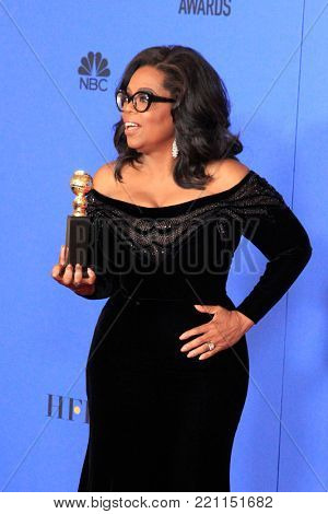 LOS ANGELES - JAN 7:  Oprah Winfrey at the 75th  Golden Globes Press Room at Beverly Hilton Hotel on January 7, 2018 in Beverly Hills, CA