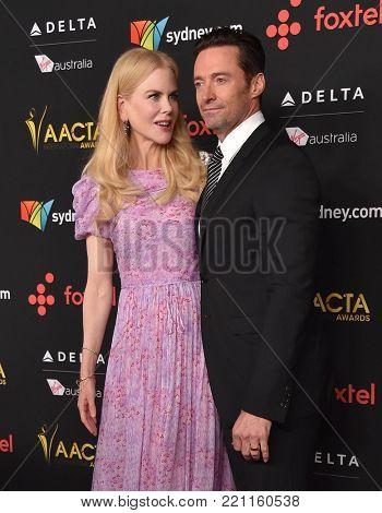 LOS ANGELES - JAN 05:  Nicole Kidman and Hugh Jackman arrives for the 2018 AACTA International Awards on January 5, 2018 in Hollywood, CA