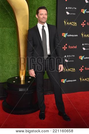 LOS ANGELES - JAN 05:  Hugh Jackman arrives for the 2018 AACTA International Awards on January 5, 2018 in Hollywood, CA