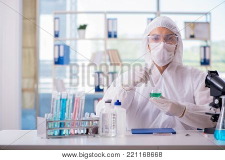 Chemist testing in the laboratory cannabis extract for medical p