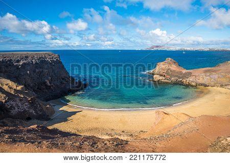Papagayo Beach in Lanzarote, Canary Islands, Spain