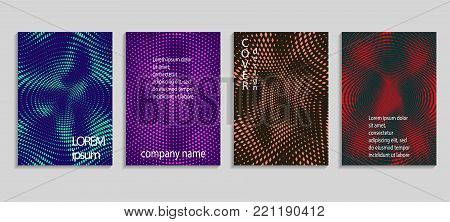 Minimal Abstract Vector Halftone Covers Design. Future Geometric Template. Vector Templates For Plac