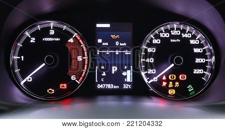 Automotive car engine speed, display, technology concept