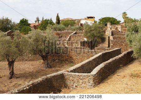 Beautiful small town rebuilt in Spain, Granadilla (Cáceres)