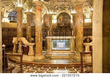 Interior Of Milan Duomo Cathedral