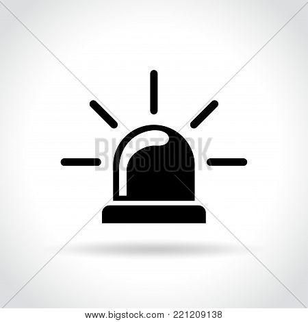 Illustration of beacon icon on white background