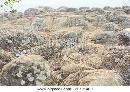 stalagmite on the cliff