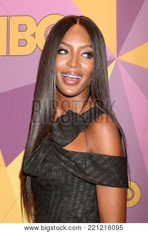 LOS ANGELES - JAN 7:  Naomi Campbell at the HBO Post Golden Globe Party 2018 at Beverly Hilton Hotel on January 7, 2018 in Beverly Hills, CA
