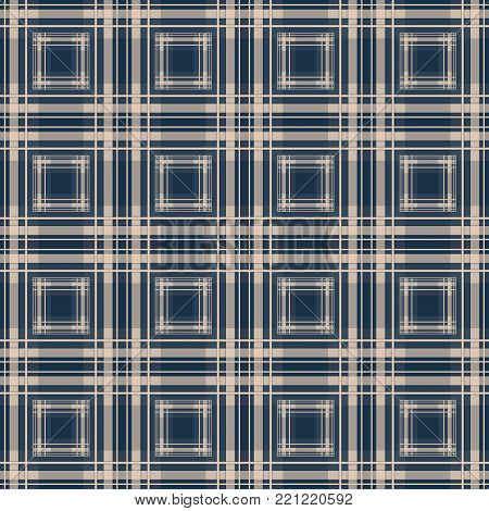 Seamless checkered plaid pattern background vintage, fabric