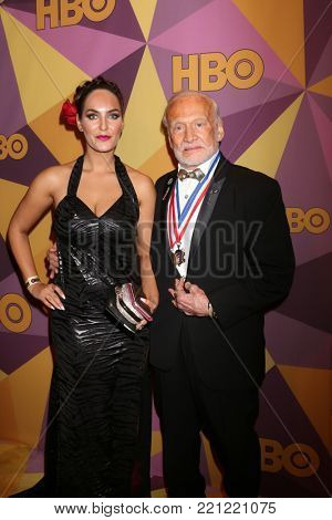 LOS ANGELES - JAN 7:  Guest, Buzz Aldrin at the HBO Post Golden Globe Party 2018 at Beverly Hilton Hotel on January 7, 2018 in Beverly Hills, CA