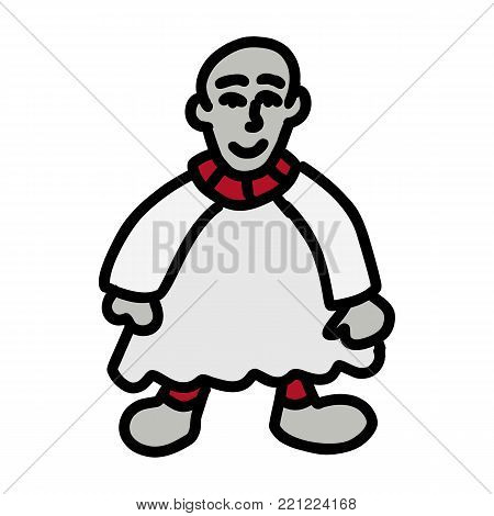 Doll cartoon icon isolated on white background