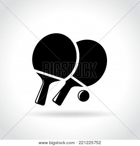 Illustration of ping pong icon on white background