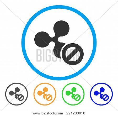 Cancel Ripple rounded icon. Style is a flat grey symbol inside light blue circle with bonus color variants. Cancel Ripple vector designed for web and software interfaces.