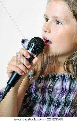 Girl sings a cristian song