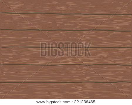 Vector Brown Wood Background. Vector Brown Wood Texture. Vector Brown Wood Fond