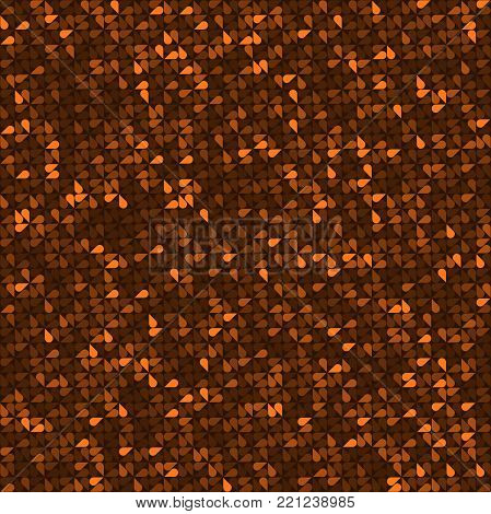 Abstract background of multicolored teardrop shaped figures. Vector illustration