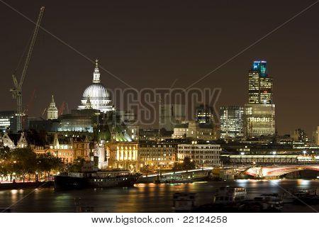 London and River Thames at Night