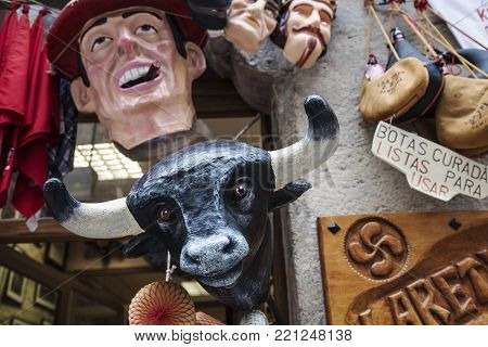 the photos of a foreshortening of Pamplona,