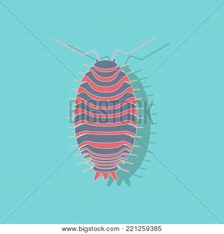 paper sticker on stylish background of wood louse